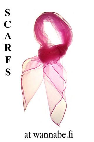 Chiffon scarf, cyclamen