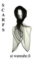 Chiffon scarf, blk