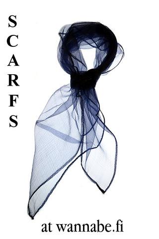 Chiffon scarf, navy blu