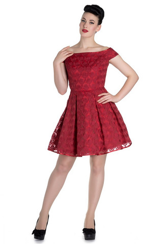 4361 Paris dress, red
