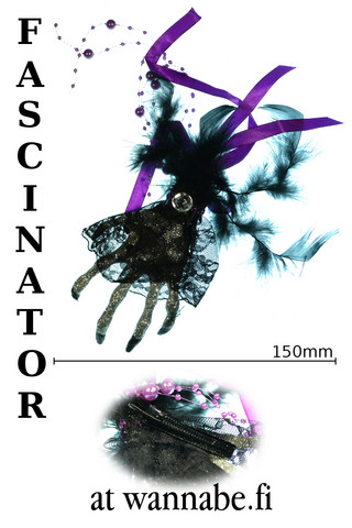 Fascinator, skeleton hand, pur