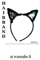 Cat Headband with lace ears