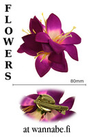 Lilies on concord clip and brooch pin, lilac