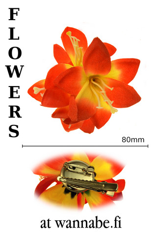 Lilies on concord clip and brooch pin, or