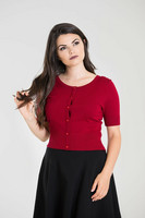 6586 HELL BUNNY WENDI CARDIGAN, DARK RED