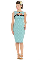 4664 Miley Pencil dress, aqua