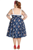 4665 Oceana 50´s dress, plus size