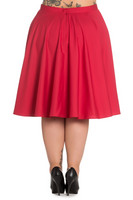5307  Paula 50s skirt, plus size, red