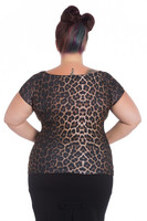 6608 Feline top, plus size
