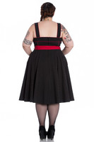4562 Martie 50`s dress, blk, plus size