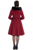 8073 Sherwood coat, dark red/blk fur