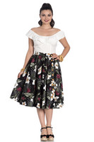 5433 HELL BUNNY TAHITI SKIRT, BLK, - SIZES XS,S
