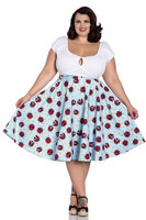 5485 LILA 50´S SKIRT, plus size