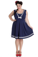 4601 Sailors Ruin dress, plus size