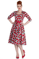 4401 Poppy 50´s dress, blue/red