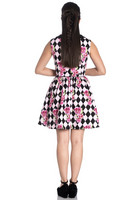 4804 Harlequin mini dress