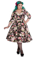 4377 Black Dalia 50s dress, plus size
