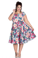 4814 HELL BUNNY LOTUS DRESS