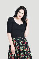 6658 Philippa top, black