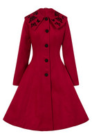 8079 Hermione Coat, red - size S