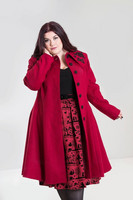8079 Hermione Coat, red, plus size