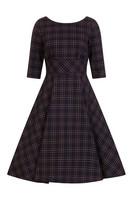 4734 HELL BUNNY PEEBLES 50S DRESS, NAVY