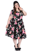 4789 Collarette 50´S dress, plus size