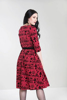 4851 Anderson 50´s dress, red