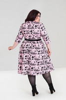 4851 Anderson 50´s dress, pink, plus size