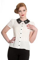 6560 HELL BUNNY MISS MUFFET BLOUSE