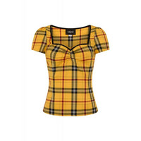 1808 Mimin Clueless Check top, yel