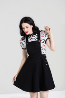 4879 DAKOTA PINAFORE DRESS, BLK