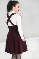 HLB40006 WONDER YEARS PINAFORE DRESS, WINE