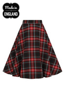 HLB50039 ISLAY 50´S SKIRT,  blk/red