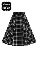 HLB50039 ISLAY 50´S SKIRT,  blk/wht
