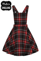 HLB40066 ISLAY PINAFORE DRESS, red