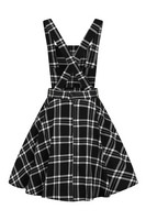 HLB40066 ISLAY PINAFORE DRESS, blk/wht