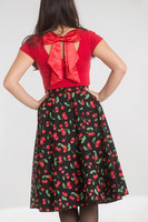 5529 SWEETIE 50`S SKIRT, BLK