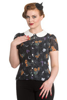 6544 HELL BUNNY HARLOW BLOUSE