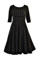 4734 HELL BUNNY PEEBLES 50S DRESS, GREEN