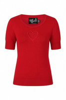 60035 HELL BUNNY HEART TOP, RED
