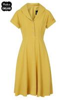 40043 HELL BUNNY SAHARA 50´S DRESS, YELLOW