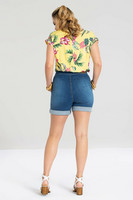 50055 HELL BUNNY NASH DENIM SHORTS