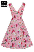 40142 HELL BUNNY ANA ROSE DRESS  -  recycled material used in the manufacture