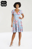 40145 HELL BUNNY JULIANNA DRESS  - recycled material used in the manufacture