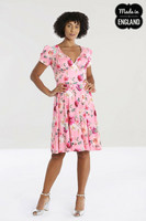 40144 HELL BUNNY JOLIE ROSE DRESS - recycled material used in the manufacture