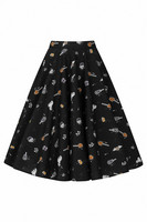 50074 HELL BUNNY TRICK OR TREAT 50´S SKIRT