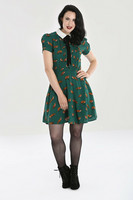 40042 HELL BUNNY VIXEY DRESS, GRN