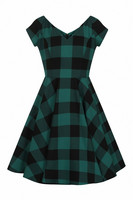 40113 HELL BUNNY TEEN SPIRIT MID DRESS, BLK/GRN