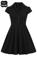 40159 HELL BUNNY CARLIE MINI DRESS, BLK